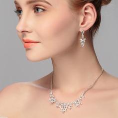 Clássico Strass com Strass Senhoras Conjuntos de jóias