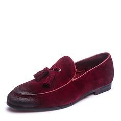 Menn Egte Lær Tassel Loafer Avslappet Loafers til herre