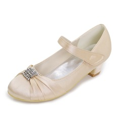 Bout fermé Chaussures de fille de fleur avec Brodé