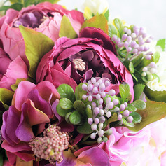 Enkle og Elegante Silke blomst Brude Buketter - Brude Buketter
