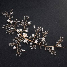 Ladies Glamourous Alloy Headbands With Venetian Pearl
