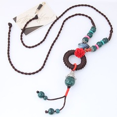 Único Liga Cerâmica Corda trançada Mulheres Moda Colar (Vendido em uma única peça)