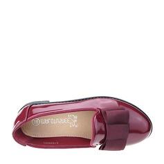 Girl's Closed Toe Loafers & Slip-Ons imitatieleer Flat Heel Flats met strik