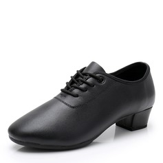 Women's Real Leather Ballroom With Lace-up Dance Shoes (053208554)