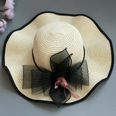 Ladies' Special/Glamourous/Elegant/Simple/Eye-catching/Fancy Raffia Straw With Flower Straw Hat/Beach/Sun Hats