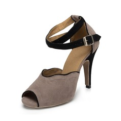 Женщины Замша На каблуках Сандалии Латино Обувь для танцев