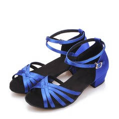 Kids' Satin Latin Dance Shoes