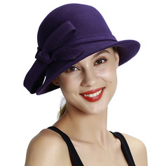 Ladies' Glamourous/Classic/Simple Wool With Bowknot Bowler/Cloche Hats