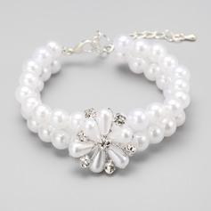 Elegant Legierung/Nachahmungen von Perlen Damen Armbänder