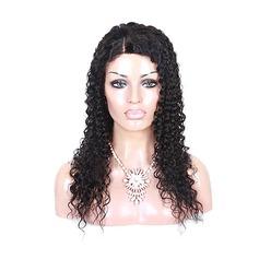 4A non remy Frisé Cheveux humains Perruques en dentelle pleine
