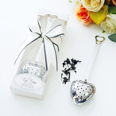 """""""Liefdesverhaal""""/""""Thee Tijd"""" Hart Gevormd Metaal Teaparty geschenken met Linten"""