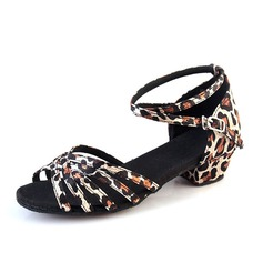 Kids' Silk Sandals Latin Ballroom Salsa Party Tango With Ankle Strap Dance Shoes
