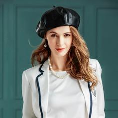 läder Kastare / Cloche Hat