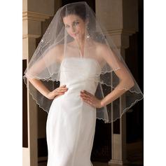 Uno capa Velos de novia vals con Recortada
