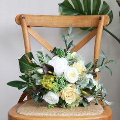Lindo Forma libre Flores de seda Ramos de novia -