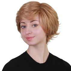 Curly Människohårblandning Human Hair Parykar 80g