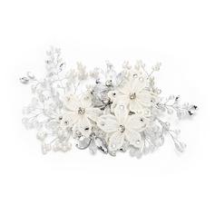 Filles Artistique Strass/De faux pearl/Fleur en soie Des peignes et barrettes avec Strass/Perle Vénitienne (Vendu dans une seule pièce)