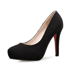 Women's Suede Stiletto Heel Pumps Platform shoes (117125164)