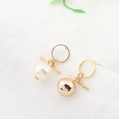 Unik Fauxen Pärla koppar Kvinnor Mode örhängen