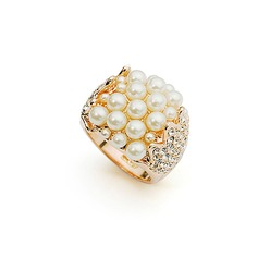 Hohe Qualität Legierung/Perle mit Strass Damen Ringe