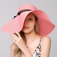 Signore Elegante Rafia paglia Beach / Sun Cappelli