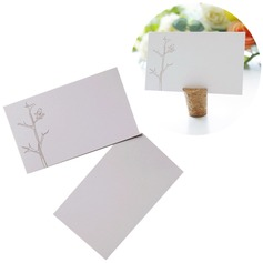 50pcs/set Lovebirds Design Blank Cards DIY Wedding Decor Materials - 9 x 5.5 cm