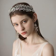 Dame Efterspurgte Imiteret Pearl Pandebånd med Venetiansk Perle (Sælges i et enkelt stykke)