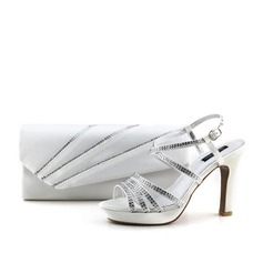 Luminoso Satén Zapatos y bolsos a juego