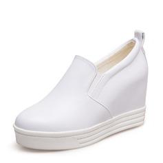 Mulheres PU Plataforma Calços sapatos
