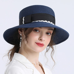 Ladies ' Prosty/Fantazyjny Papirus Słomiany kapelusz/Plaża / niedz Kapelusze