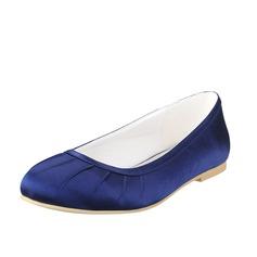 Frauen Seide Flascher Absatz Flache Schuhe