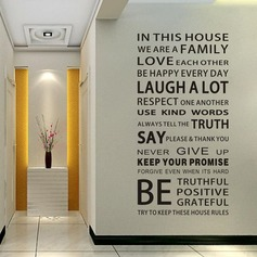 We Are Family Quote Wall Stickers For Living Room (Sold in a single piece) (203168025)