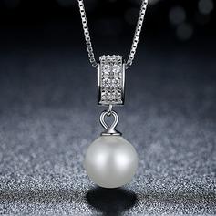 Mode Fauxen Pärla silver Damer' Mode Halsband