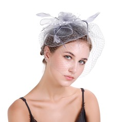 Dames Style Classique Feather/Fil net avec Feather Chapeaux de type fascinator (196154629)