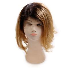 4A Ej remy Straight Mänskligt hår Lace Front Parykar 200g