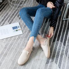 Kvinner Stoff Flat Hæl Flate sko Lukket Tå sko
