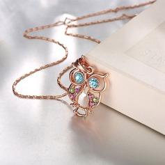 Mode Legering Kristall Damer' Mode Halsband