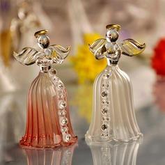 Anjo e Coração Vidro Sinos de Casamento