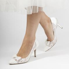 Vrouwen Kant Stiletto Heel Closed Toe Pumps met strik
