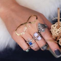 Mode Legering Damer' Mode Ringar (Sats om 5)