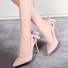 Donna Camoscio Tacco a spillo Stiletto Punta chiusa con Applicazione scarpe