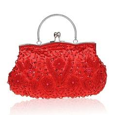 Elegant Satäng/Silke Grepp/Handledsväskor/Satchel/Totes väskor/Brudväska/Mode handväskor/Makeup Väskor/Lyx Bag