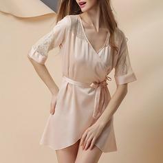 Polyester/Artificial Silk Bridal/Feminine/Fashion Sleepwear