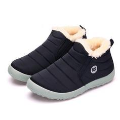 Women's Fabric Flat Heel Boots shoes