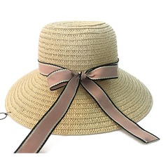 Señoras' Hermoso Ratán paja con Bowknot Sombrero de paja