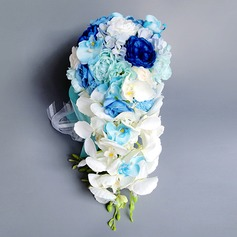 Gorgeous Cascade PE Bridal Bouquets (Sold in a single piece) - Bridal Bouquets
