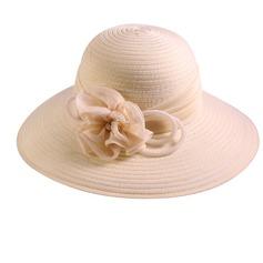 Señoras' Hermoso/Moda poliéster con Flor Disquete Sombrero/Sombreros Playa / Sol