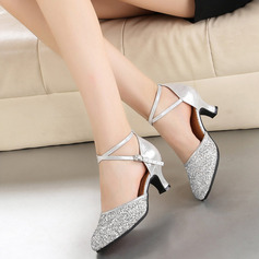 Women's Leatherette Sparkling Glitter Heels Modern Dance Shoes (053106445)
