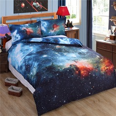 Modern/Contemporary Polyester Cotton Comforters (4pcs :1 Duvet Cover 1 Flat Sheet 2 Shams)
