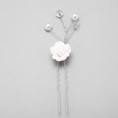 Элегантные сплав/искусственный жемчуг/керамика заколки